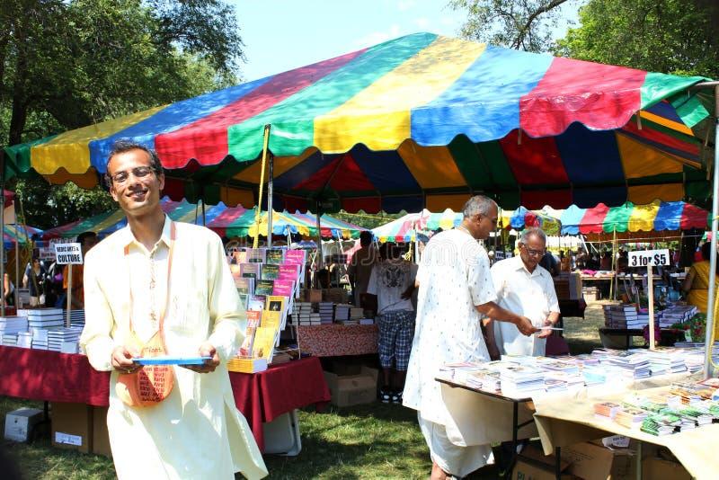 Boekhandelaar bij Festival van India royalty-vrije stock foto's