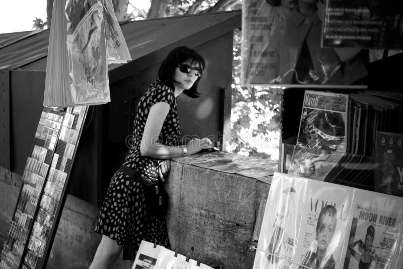 boekhandelaar in de rivier van de grenszegen royalty-vrije stock foto