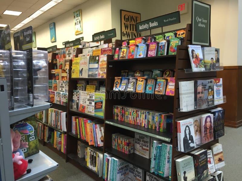 Boekhandelbinnenland stock foto