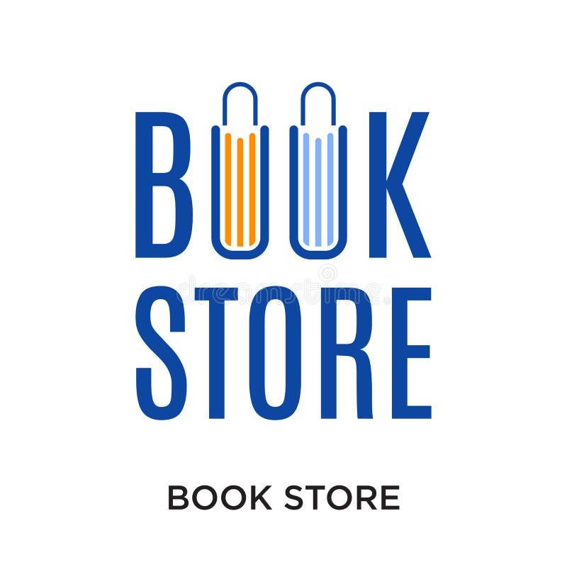 boekhandelembleem op witte achtergrond voor uw Web wordt geïsoleerd dat, mobil royalty-vrije illustratie