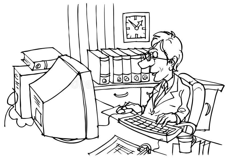 Boekhouder vector illustratie