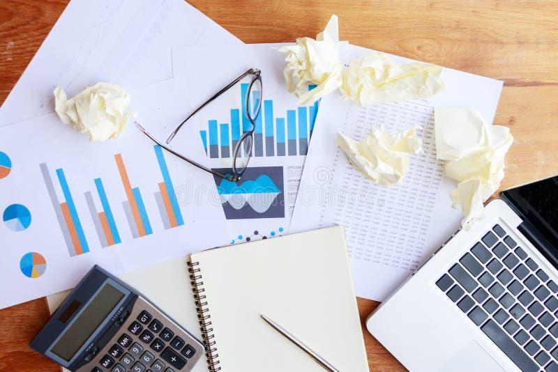 Boekhouding, bankwezen en statistiekgegevensconcept stock afbeelding