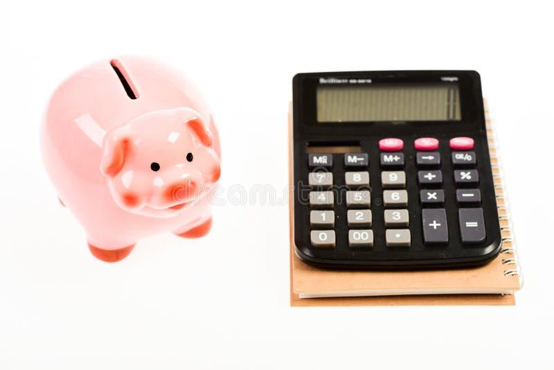 boekhouding Financieel rapport hoofdbeheer plannende tellende begroting Commerecezaken moneybox met royalty-vrije stock fotografie