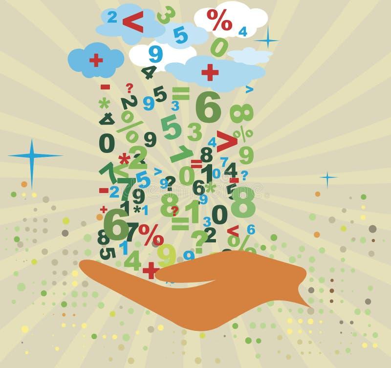 Boekhoudingsachtergrond Abstracte wiskundige beweging veroorzakend bankwezen royalty-vrije illustratie