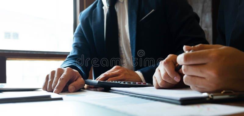 Boekhoudingsadviseur, de Planning van Handelsadviseurfinancial consultant financial Planning royalty-vrije stock foto