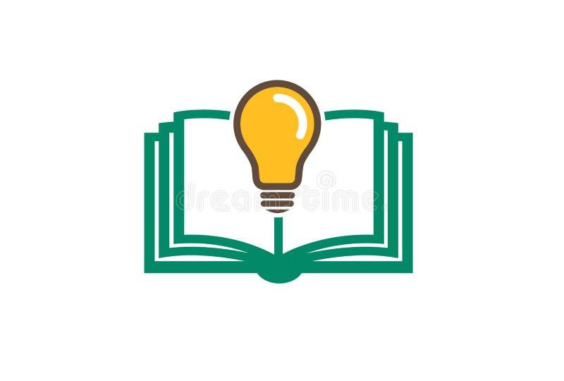 Boekideeën Logo Design Illustration royalty-vrije illustratie
