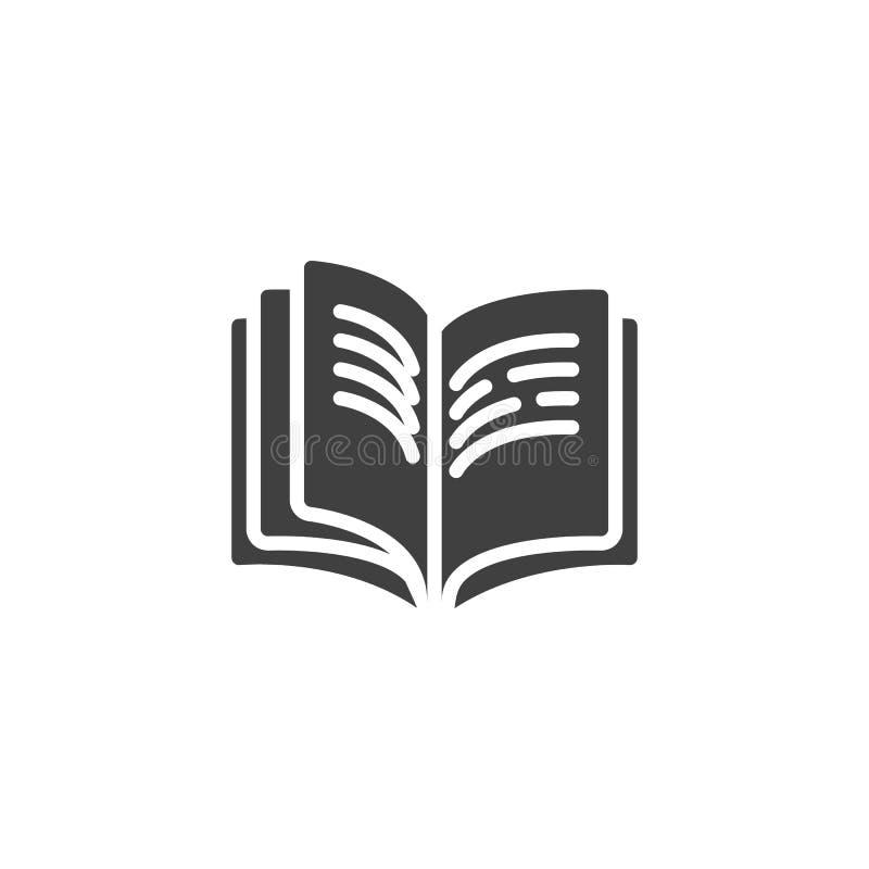 Boekpagina's met tekst vectorpictogram royalty-vrije illustratie