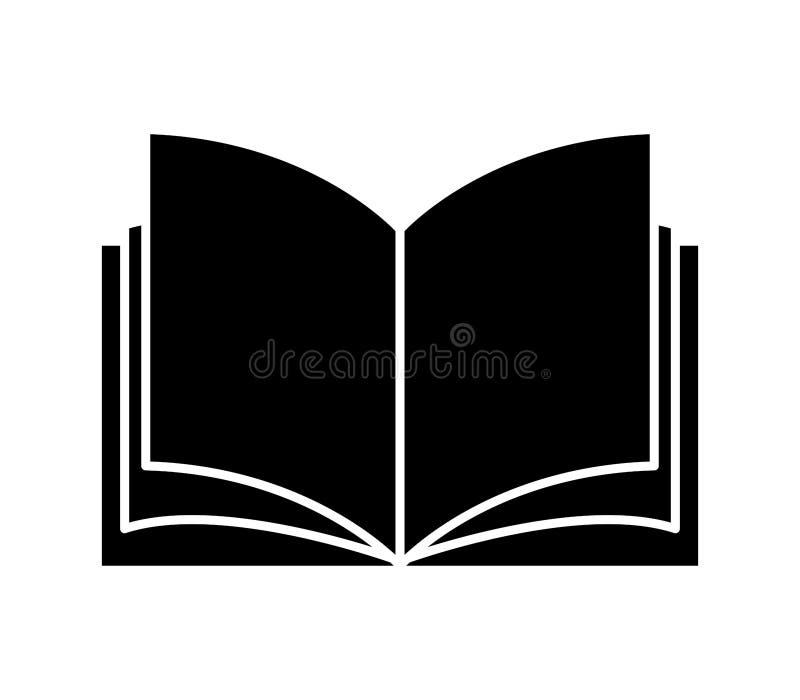 Boekpictogram  stock afbeelding