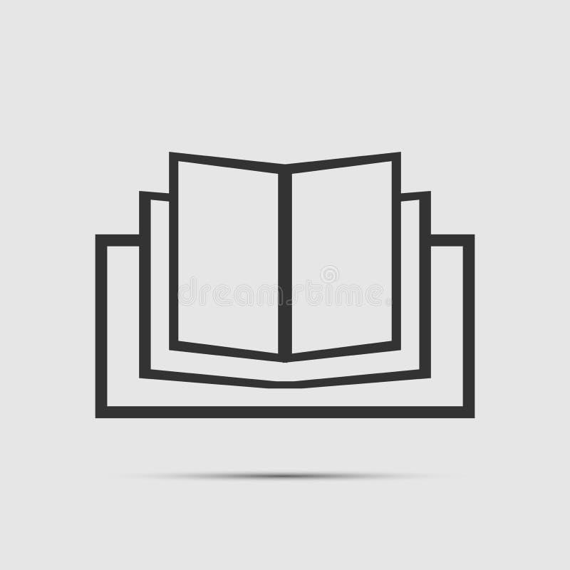Boekpictogram op witte achtergrond vector illustratie