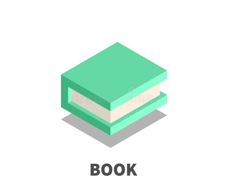 Boekpictogram, vectorsymbool vector illustratie