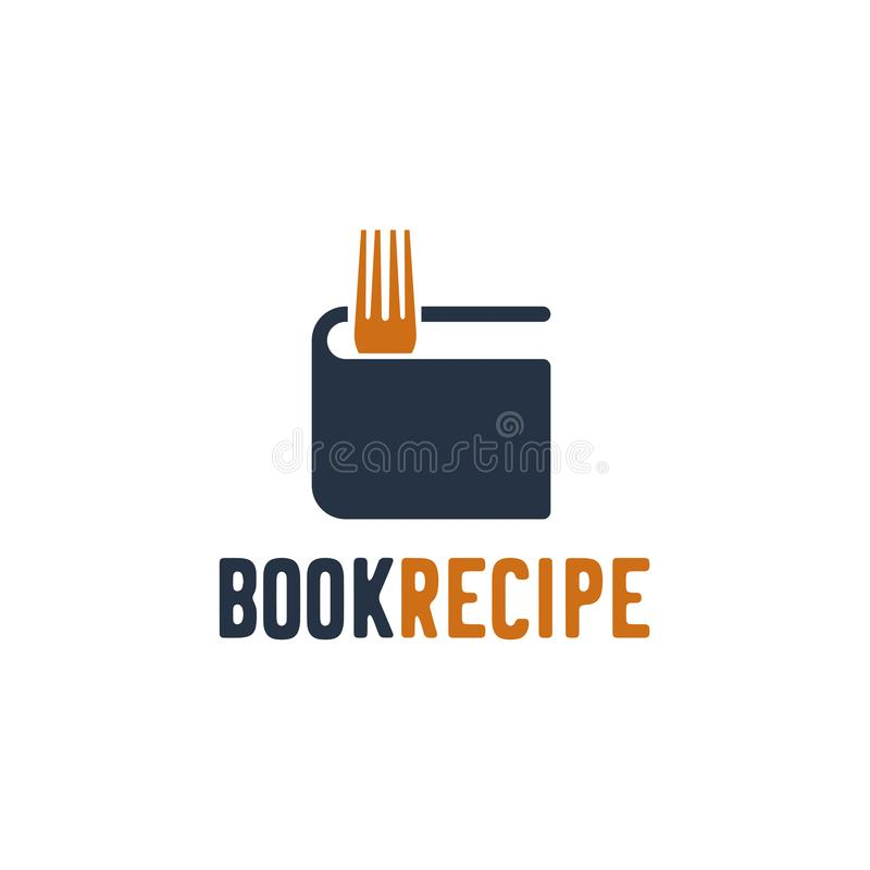 Boekrecept Logo Template Design Vector - Vector vector illustratie