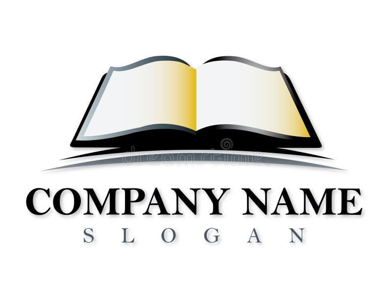 Boekvector logotype royalty-vrije illustratie
