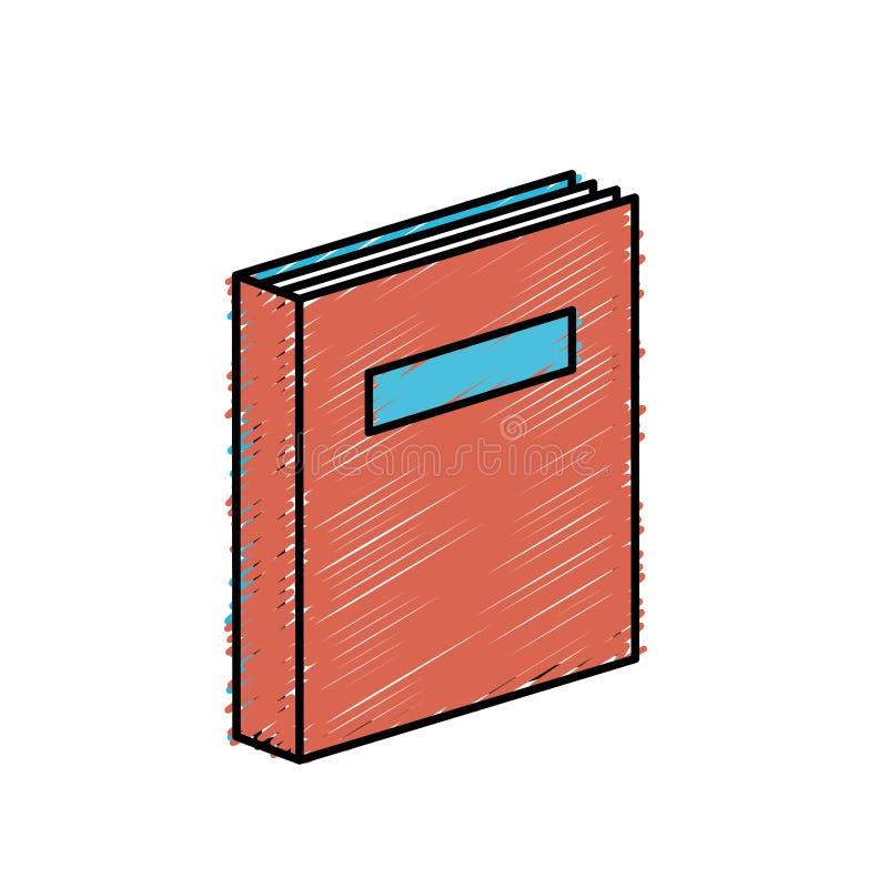 Boekvoorwerp aan de literatuur van de onderwijskennis stock illustratie