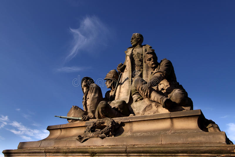 Boer-Krieg-Denkmal, Nordbrücke, Edinburgh lizenzfreies stockfoto