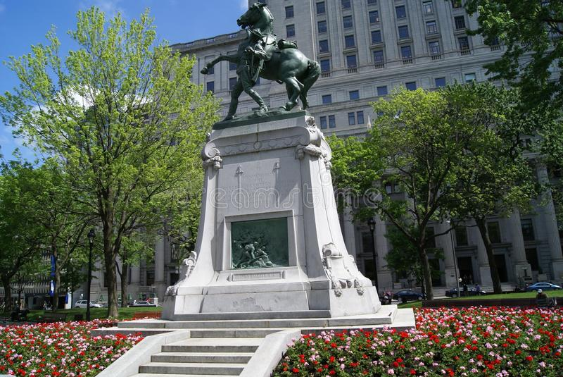 Boer War Memorial, Montreal, Montreal, Quebec. Boer War Memorial or monument is a sculptor of George W. Hill located at Dorchester Square, Montreal, Montreal stock photos
