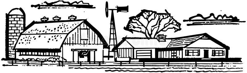 Boerderij en Schuur vector illustratie