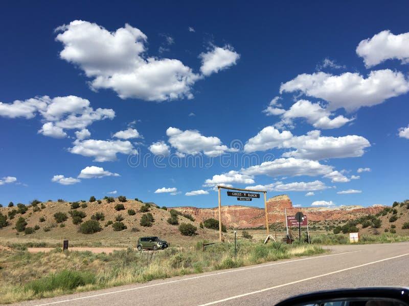 Boerderij in New Mexico stock afbeelding