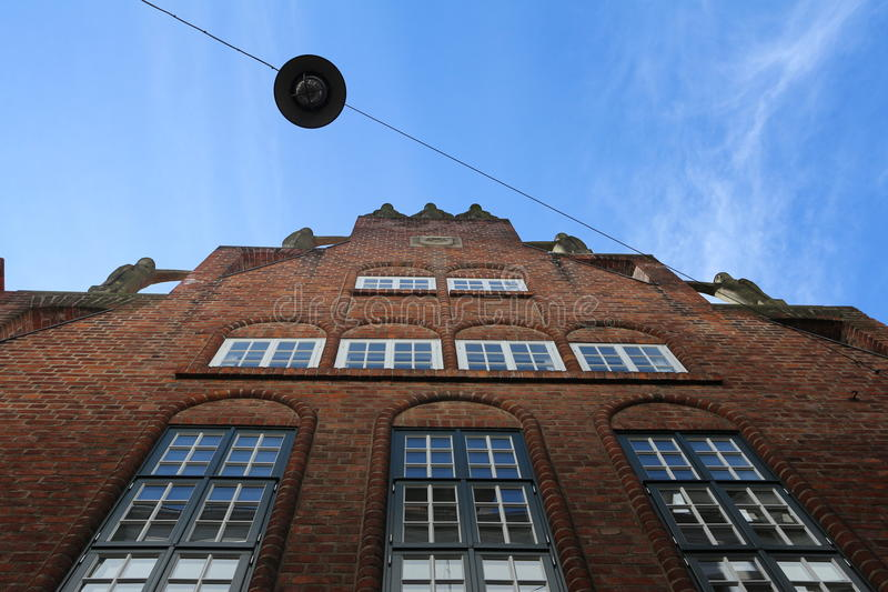 Boettcher gata i Bremen, Tyskland arkivbild
