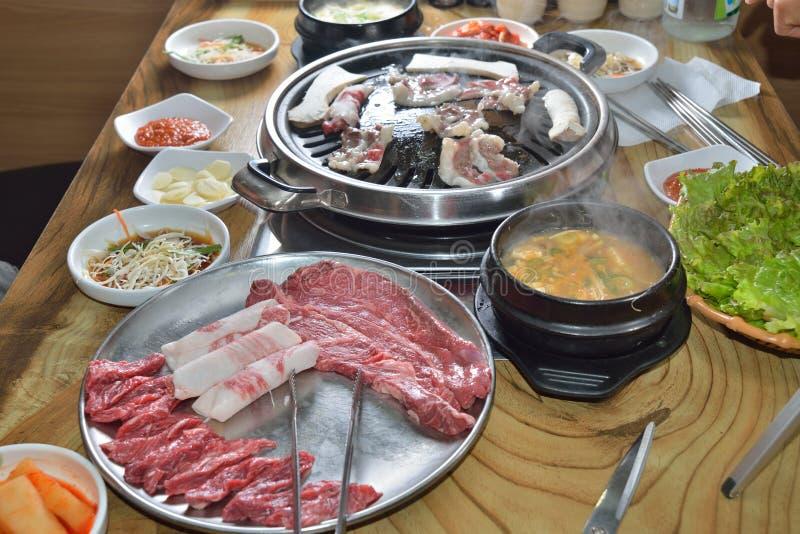 Boeuf assorti par BBQ coréen photographie stock