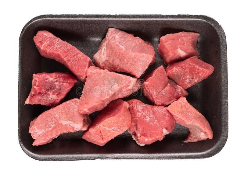 Boeuf de cuisson à la casserole photographie stock libre de droits