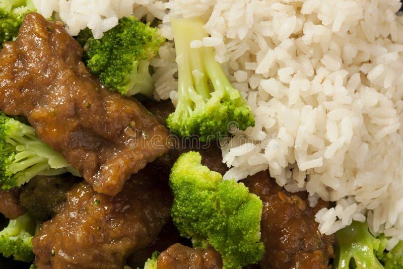 Boeuf et brocoli asiatiques faits maison images libres de droits