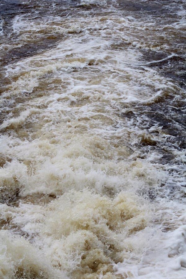 Bog River Falls. Rapids in Tupper Lake, New York stock photo