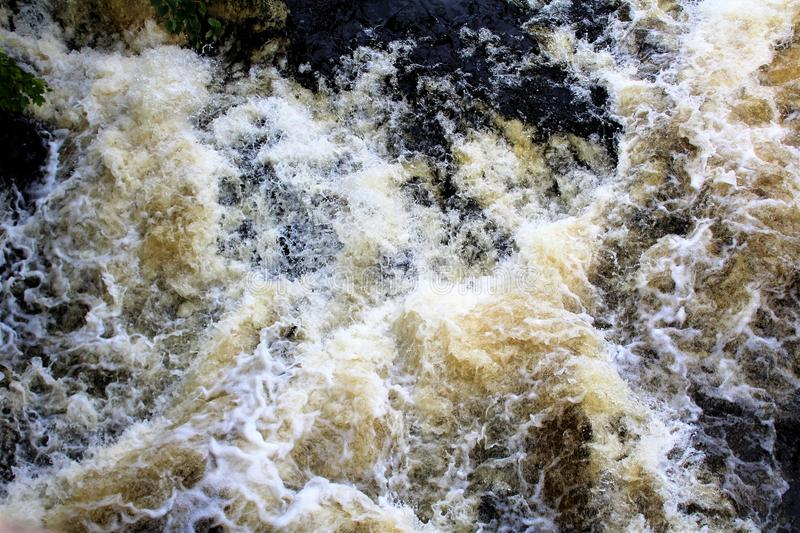 Bog River Falls. Rapids in Tupper Lake, New York in the Adirondacks, designated as Scenic River by the State of New York royalty free stock image