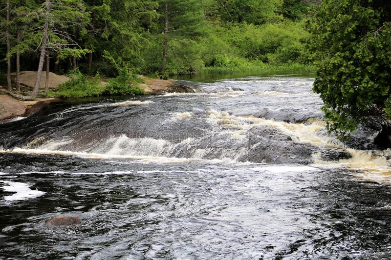 Bog River Falls. Scenic landscape and flow in Tupper Lake, New York in the Adirondacks, designated as Scenic River by the State of New York stock images