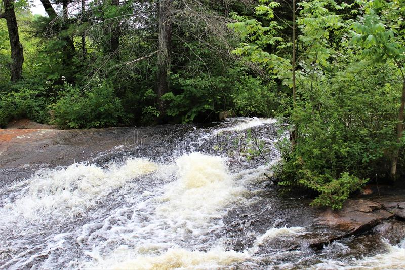Bog River Falls. Scenic landscape and flow in Tupper Lake, New York in the Adirondacks, designated as Scenic River by the State of New York stock photos
