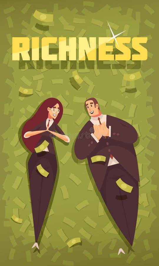 Bogaci ludzie sztandarów royalty ilustracja
