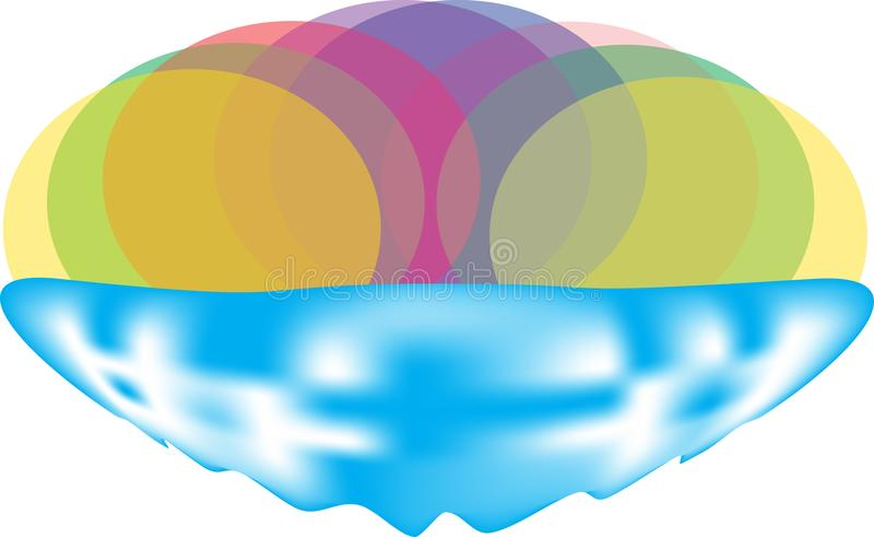 Bogactwo barwi loga vektor ilustracji