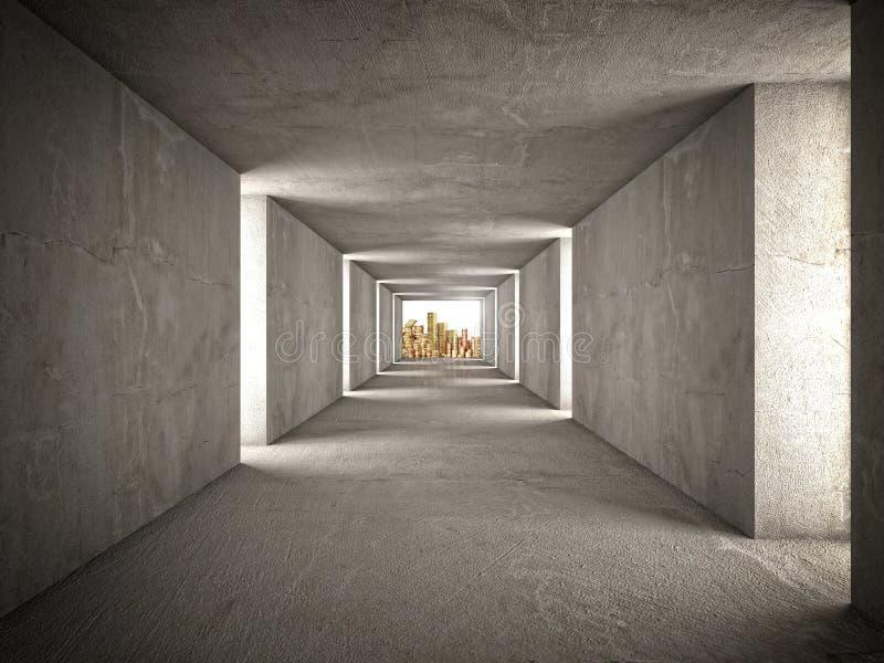 Download Bogactwo tunel ilustracji. Ilustracja złożonej z arkada - 53779486