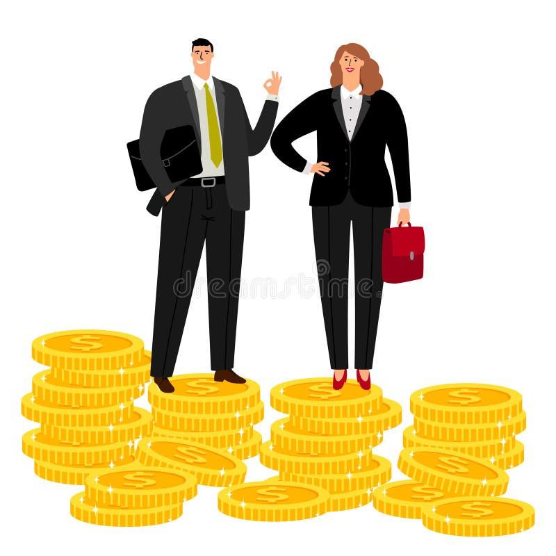 Bogata biznesmen para ilustracja wektor