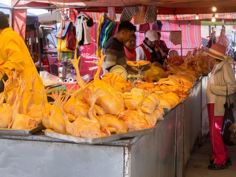 Bogata oferta mięso, Quito rynek, Ekwador obraz stock