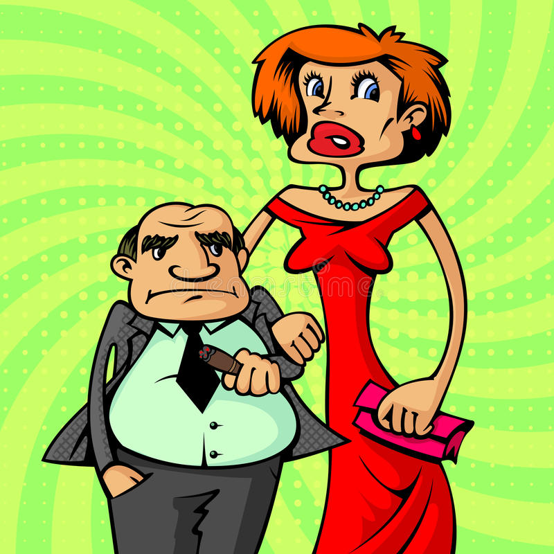 Bogata szczęśliwa para royalty ilustracja