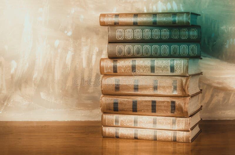 Bogato dekorować pojemność książki z złocistym literowaniem obraz stock