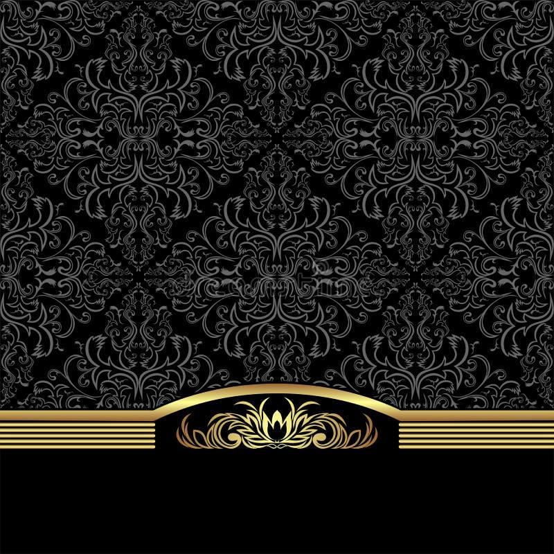 Bogaty ornamentacyjny tło dekorował elegancką granicę royalty ilustracja