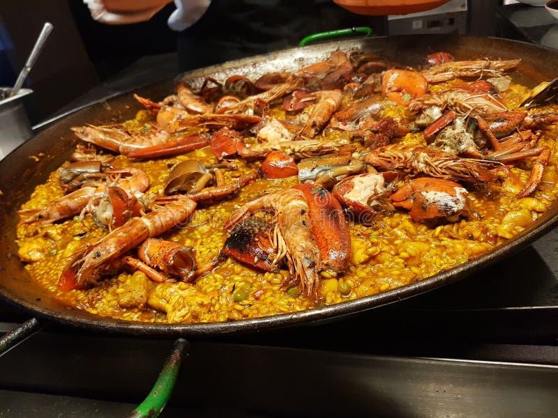 Bogavant espagnol de Paella images libres de droits