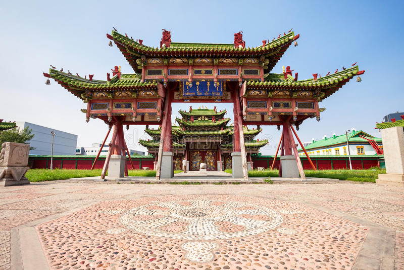 Bogd Khan Winter Palace royalty free stock images