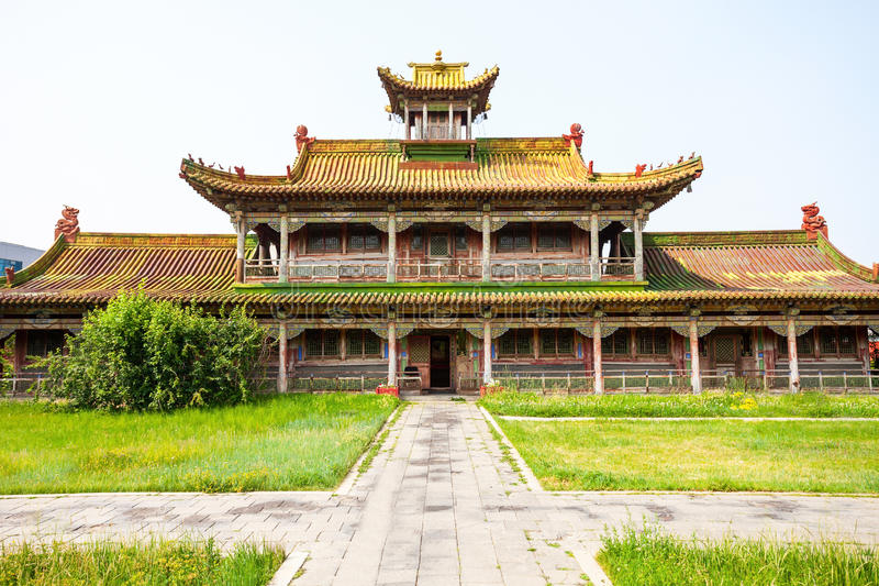 Bogd Khan Winter Palace. The Winter Palace of the Bogd Khan Museum is located in southern Ulaanbaatar, capital of Mongolia royalty free stock images