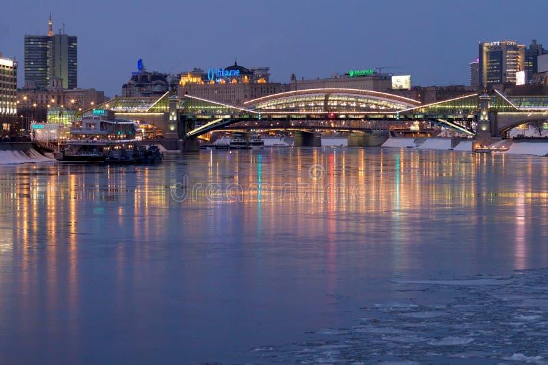 Bogdan Khmelnitsky Bridge, Moscow, Russia stock images