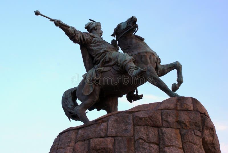 bogdan khmelnitsky kiev monument till ukraine fotografering för bildbyråer