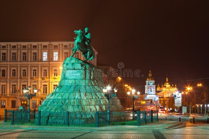 The Bogdan Khmelnitsky monument royalty free stock images