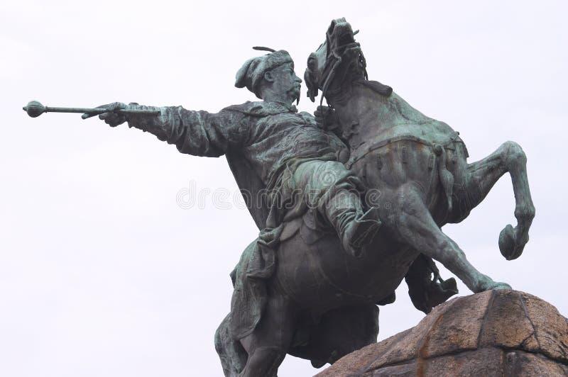 bogdan khmelnitsky monument royaltyfria bilder