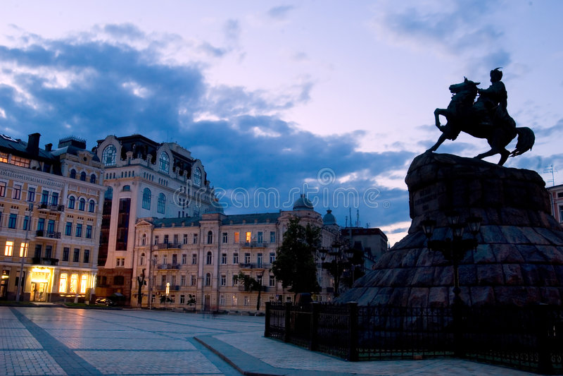 Bogdan Khmelnitsky statue royalty free stock photos