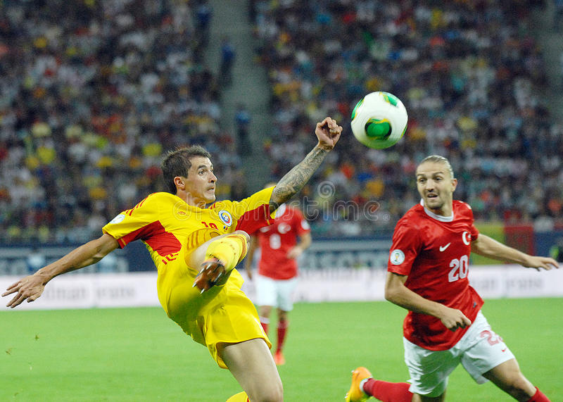 Download Bogdan Stancu And Caner Erkin In Romania-Turkey World Cup Qualifier Game Editorial Stock Photo - Image: 33544558