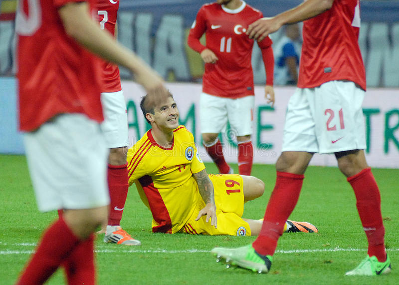Bogdan Stancu desolated in Romania-Turkey World Cup Qualifier Game
