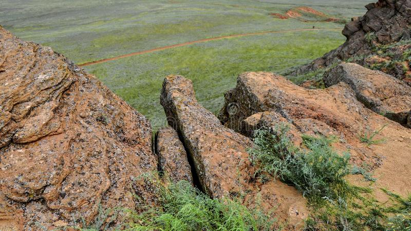 Bogdo-Berg Astrakhan, Russland, natürlich lizenzfreies stockfoto