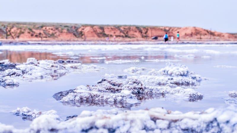 Bogdo-Berg Russland Baskunchak Salt See lizenzfreie stockfotos