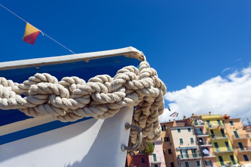 Bogen des Bootes - Ligurien Italien lizenzfreie stockbilder